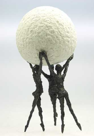 Gemeinsam sind wir stark - Kött-Gärtner Luise - Bronze Skulptur