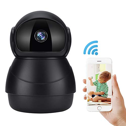 WiFi IP Kamera, Mini-Home-Security-Monitor 3D-Navigation 1080P HD Wireless Indoor-Kamera mit IR-Nachtsicht, 2-Wege-Audio, Micro SD Home Security Überwachungskamera Monitor für Baby, Elder, Pet.(Euro) Baby-security Monitor