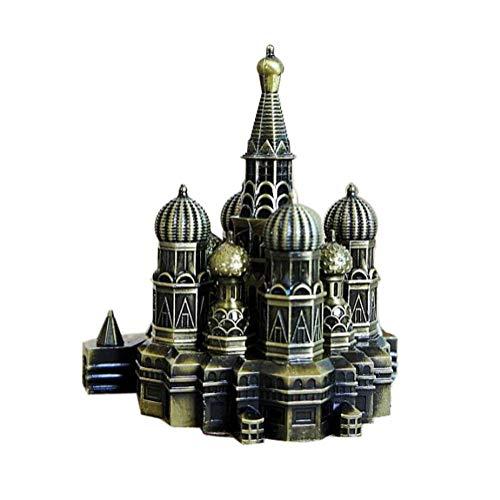 PROW® Stadt Retro Bronze Moskau Kremlin Dekor Metall Statue Figurine Wohnzimmer Vintage Zuhause Dekorfür Geschenke Party Desktop Dekoration (4,7 Zoll)