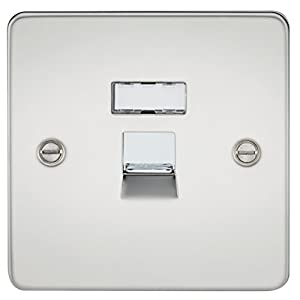 Knightsbridge FPRJ45PC FPRJ45 FPAVRJ45PC Flat Plate Rj45 Network Outlet-Polished Chrome, 230 V