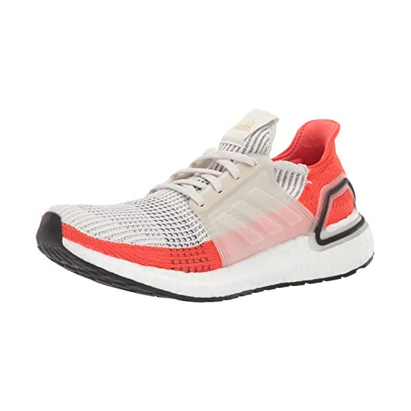 adidas Men's Ultraboost 19 – Raw White White Active Orange, 9.5 UK