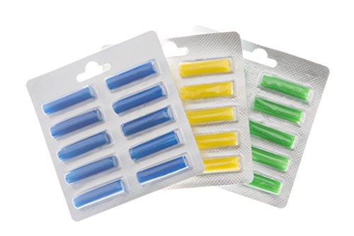 """Vorratspackung 3x10 Duftpatronen passend für alle Modelle Vorwerk Siemens Miele AEG etc. Duftrichtung \""""Zitrone\"""" \""""Meeresbrise\"""" und \""""Wald und Wiese\"""""""