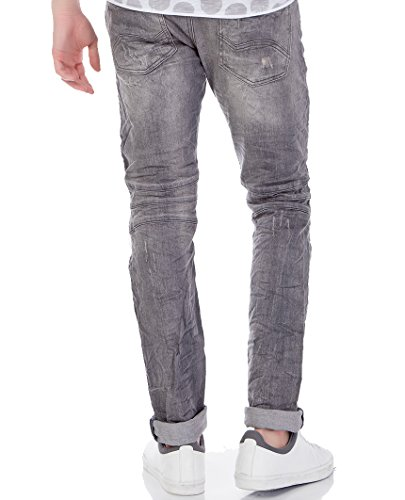 Red Bridge Herren Ripped Biker Skinny Röhrenjeans Jeans Pants Denim Grau Standard