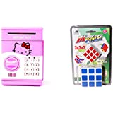 Hello Kitty Piggy Bank Safe Box Money Coin Atm Bank Toy And Magic Cube Stickerless (red Color)