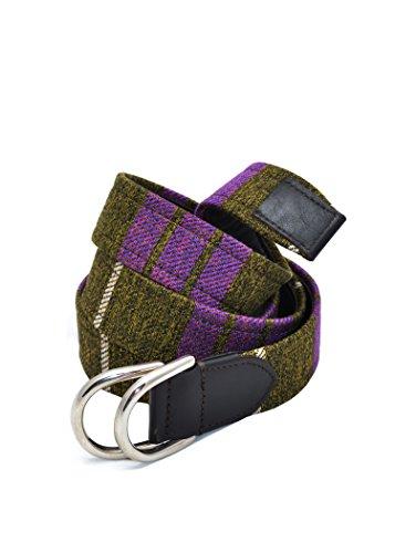 Cintura FABRIZIO MANCINI in tessuto e pelle fibbia in metallo