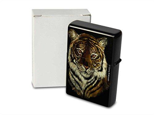 C. Krakowski Encendedor De Gasolina Impreso Recargable Retrato del tigre