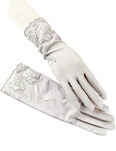 Féminine Été Thin Section Gants à écran tactile Lace Ice Silk Sunscreen Driving Gloves ( Couleur : 7 ) 1