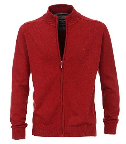 Casa Moda - Herren Strickjacke in verschiedenen Farben, S-6XL (004250) Rot (422)