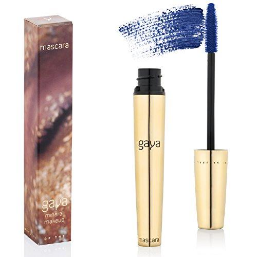 Gaya Cosmetics Vegan Wimperntusche Mascara - Wimpernverlängerung Blau für Augen Schminken & Verlängerung Natürlicher Wimpern (Blue)