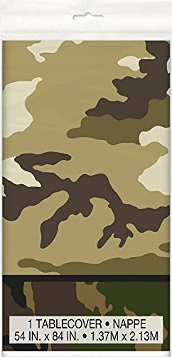 Theme Party Plastic Tablecover (1.37m x 2.13m) by Camouflage ()