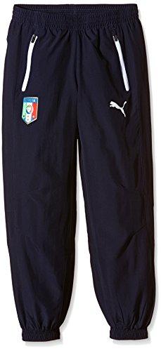 PUMA, Pantaloni per il tempo libero Figc Italia Uomo, Blu (Peacoat), M