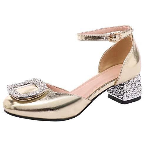 JYshoes, Con Cinturino alla Caviglia Donna, Oro (Gold), 36.5 EU