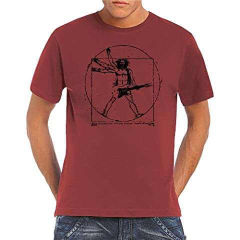 Touchlines Da vinci rock guitar - Camiseta de manga corta para hombre