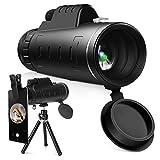 YISSVIC Telescopio Monocular 12 X 55 HD Zoom óptico Telescopio Impermeable y a Prueba de...