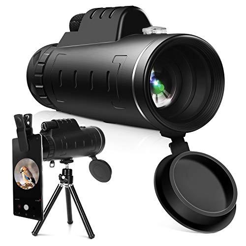 YISSVIC Telescopio Monocular 12 X 55 HD Zoom óptico Telescopio Impermeable y...