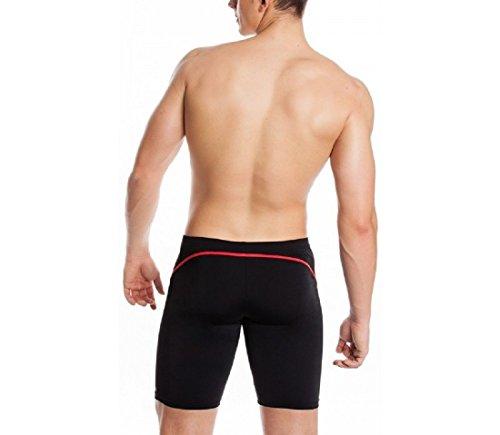 AquaSpeed Blake Shorts de natation moulant pour hommes Schwarz / Rot / REVO - 16