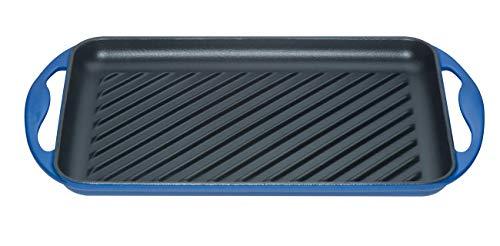 Le creuset bistecchiera rettangolare in ghisa, blu marsiglia