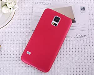 SBM Retail Ultra Thin TPU Semi-Hard Transparent Back Cover Case For Samsung Galaxy S5 (Red)