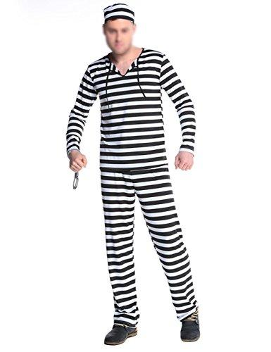 (THEE Vampir Zombie Gefängnis Clown Kostüm Halloween Cosplay Karneval Fasching Fastzeit)