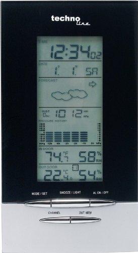 Technoline WS 6730 - Estación meteorológica, color plateado y negro