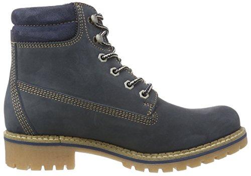 Tamaris 25242 Damen Combat Boots Blau (Navy Nubuc 827)