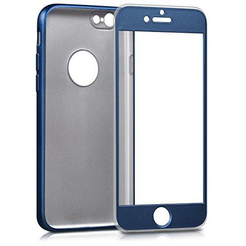 kwmobile Hülle für Apple iPhone 6 / 6S - Backcover Case Handy Schutzhülle TPU Silikon - Back Cover Metallic Rosegold .Metallic Blau