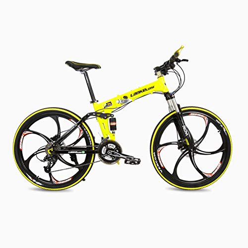 Folding Mountain Bike With 48V Removable Li-Battery 27 Speed Gear And Three Working Modes,Yellow
