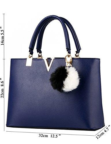Menschwear Ladies Handbag Marche Borse Eleganti Borse Shopper Cerniere Borse Donna Nero Diamon Blu