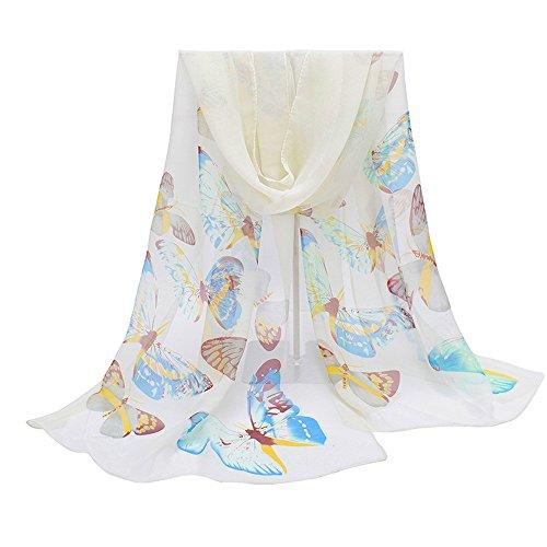 TUDUZ Women Scarves New Fashion Scarf Lady Butterfly Print Neck Shawl Scarve Warm Wrap Stole