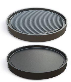 LotusGrill Grill-Teppanyakiplatte - Speziell entwickelt für den raucharmen Holzkohlegrill/Tischgrill