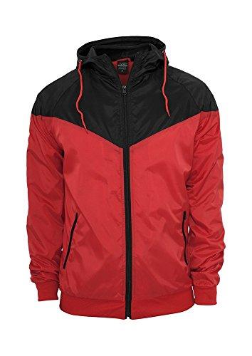 TB148 Arrow Windrunner Joggingjacke Red/Blk