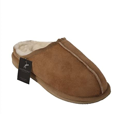 Shepherd Slippers Luxury Sheepskin MARTIN Style Slipper 100% Genuine Leather - Size 9/43