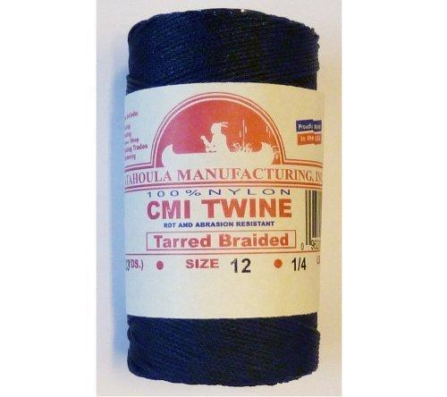 400' Catahoula Manufacturing #12 Tarred Braided Nylon Twine (Bank Line) 95 lb Test by Catahoula Manufacturing, Inc. (English Manual)