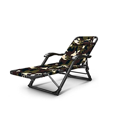 MLMHLMR Mittagessen Rest Stuhl Camouflage Serie Büro Erwachsene Liege Tragbare Klapp Strand Stuhl Verstärkt Oxford Tuch Klappstuhl (Color : Camouflage B, Size : Cotton Pads) -