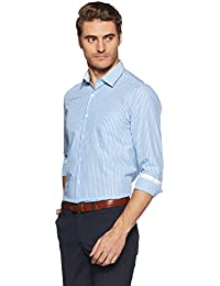 Diverse Men's Striped Regular Fit Cotton Formal Shirt