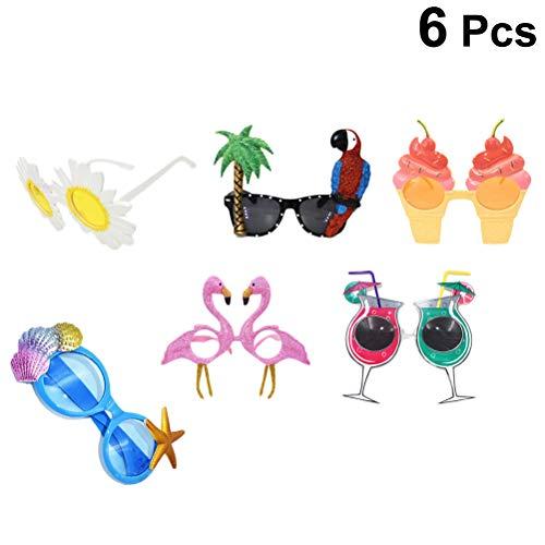Amosfun Flamingo Sonnenbrille Sommer Brille Tropical Party Dekoration Hawaiian Party Strand Tropical Luna Themen Party Foto Eyewear Requisiten Geburtstagsgeschenk