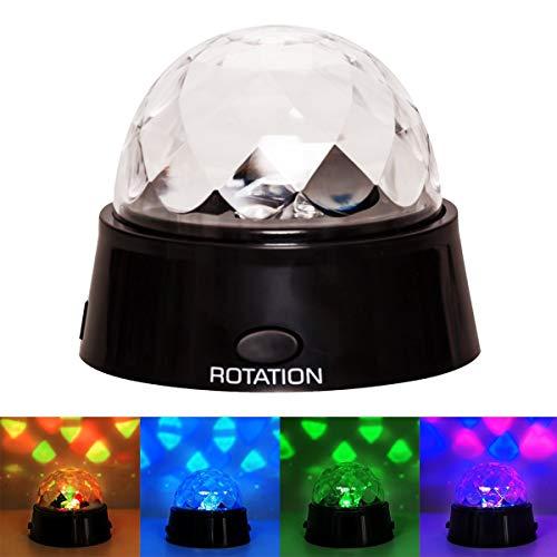 Kertou Party Disco Lichteffekt Kugel LED RGB Licht Projektor Beleuchtung Discokugel DJ Schlummerlicht LED Lampe Bühnenbeleuchtung