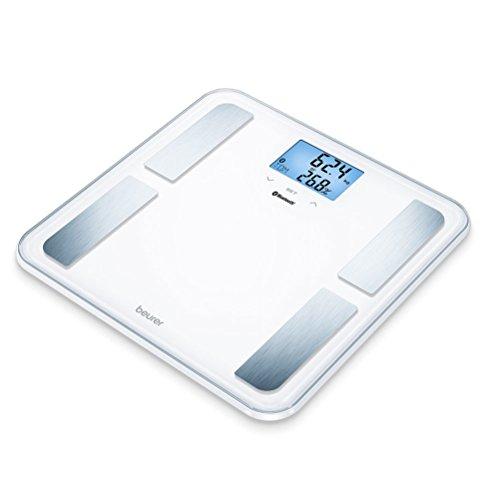 Beurer BF 850 Pèse-Personne Impédancemètre Connecté Bluetooth avec Grand Affichage Blanc 8 Mémoires 180 kg