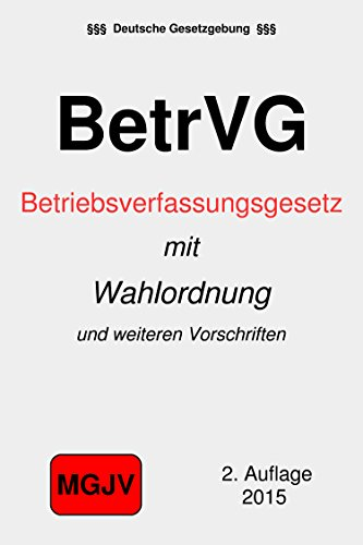 WAHLORDNUNG BETRVG PDF DOWNLOAD