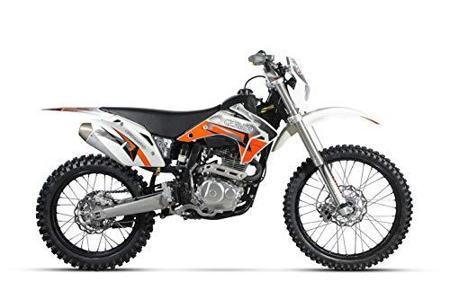 "CENKOO K2 250cc Luftkühlung 21/18\"" Enduro Motocross Dirt Bike Weiß"