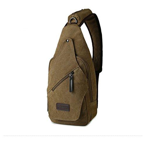 BULAGE Paket Paket Brusttaschen Lässig Männer Sport Leinwand Multi-funktionale Im Freien Messenger Rucksäcke Einfach Und Bequem Brown