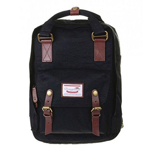 Doughnut Macaroon Laptop Backpack One Size Black