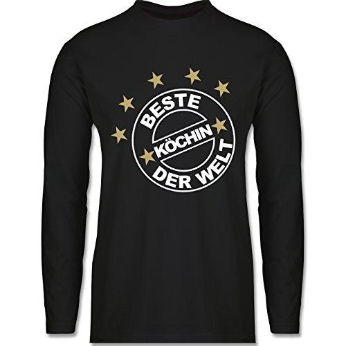 Küche - Beste Köchin der Welt - Longsleeve / langärmeliges T-Shirt für Herren Schwarz
