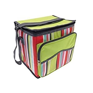 Country Club Large Insulated Cool Bag - Lime Stripe