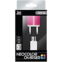 Two Dots - Cargador Neocolor, Color Rosa (Nintendo 3Ds XL, 3DS, 2DS)