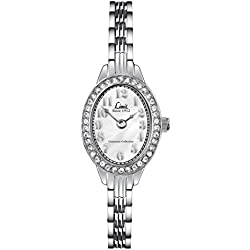 Limit Ladies Quartz Watch with Silver Dial Analogue Display and Silver Bracelet 6891.25