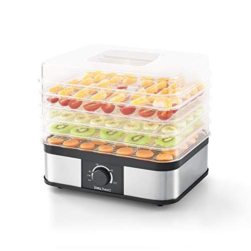 Gemüse-trockner ([neu.haus] Dörrgerät - mit 5 Etagen - Dörrautomat Obst und Gemüse Trockner Food Dryer Eckig 250W)