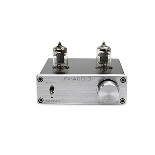 Nobsound Mini 6J1 Vakuumröhre Vorverstärker Stereo HiFi Puffer Vorverstärker Valve Vacuum Tube Pewamplifier Preamp Buffer (Silber) (Stereo-vorverstärker)