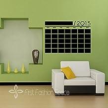 Nuevo–calendario mensual de pizarra pizarra de vinilo Bricolaje Nuevo 2015Pared Planificador mural papel pintado adhesivo para pared pegatinas tamaño 56x 38cm