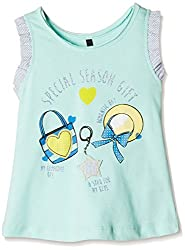 United Colors of Benetton Baby Girls' Blouse (16P3QT6C806PG1AL_Blue_1Y)